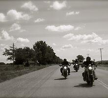 Three Bikers by Rachel Lilly