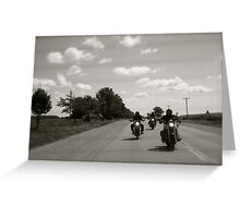 Three Bikers Greeting Card