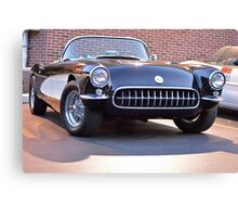 Black Classic Corvette Canvas Print
