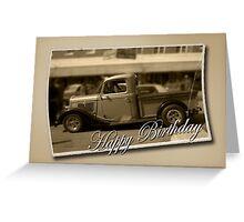 Old Ute Birthday Card Greeting Card