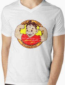 Average Joe's Gymansium Mens V-Neck T-Shirt