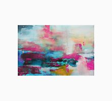 Aqua Pink Abstract Print from Original Painting  Unisex T-Shirt