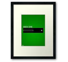 Simple Xbox One Design Framed Print