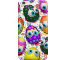 Cute Easter Eggs Cartoon 3d Pattern iPhone Case/Skin