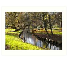 Leeds Castle: Autumn Gardens Art Print