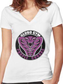 Globo Gym Purple Cobras Women's Fitted V-Neck T-Shirt