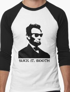Abraham Lincoln Suck It Booth Men's Baseball ¾ T-Shirt