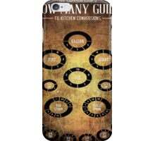 A COOK'S MEASURMENT CONVERSION TABLE iPhone Case/Skin