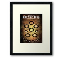 A COOK'S MEASURMENT CONVERSION TABLE Framed Print