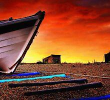 Sizewell Beach Suffolk Panoramas. by Wayne Bradshaw