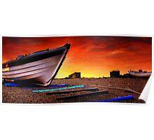 Sizewell Beach Suffolk Panoramas. Poster