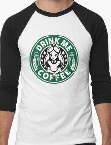 Drink Me Coffee Men's Baseball ¾ T-Shirt