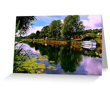 River Perspective Greeting Card