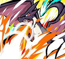 Shiny Mega Charizard Y | Overheat by ishmam