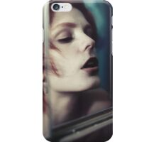 Echo Fashion - fashion portrait beautiful perfect proud woman cute girl vintage red iPhone Case/Skin
