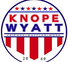 knope wyatt presidential campaign 2040  by sansastoneheart