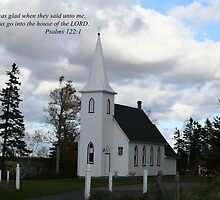 Country Church with Scripture by Linda Jackson