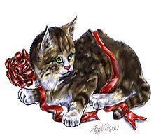 Holiday Kitten by Agy Wilson