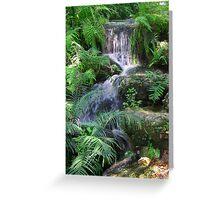 Natural Springs Waterfall Greeting Card