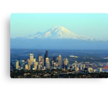 Rainier Beyond Seattle Canvas Print