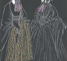 mourning dresses and bonnets by purplestgirl
