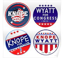 parks and rec knope wyatt campaign collection Poster
