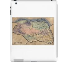 Map Skyrim iPad Case/Skin