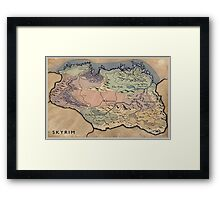 Map Skyrim Framed Print