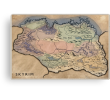 Map Skyrim Canvas Print