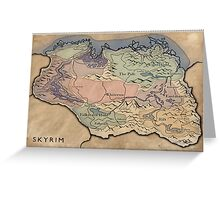 Map Skyrim Greeting Card