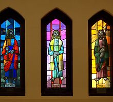 A window in Drouin Anglican Christ Church by Bev Pascoe