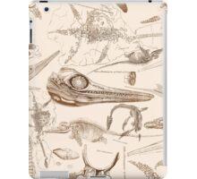 Marine Reptile Engravings Brown iPad Case/Skin