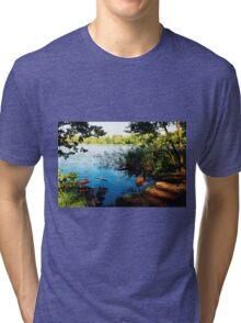 Virginia Water Lake, Windsor, England Tri-blend T-Shirt