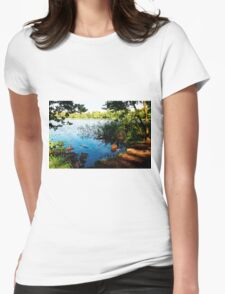 Virginia Water Lake, Windsor, England Womens Fitted T-Shirt