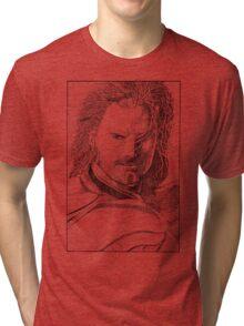 Aragorn Portrait Tri-blend T-Shirt