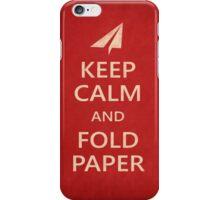 Keep Calm Paper Airplane 21a iPhone Case/Skin