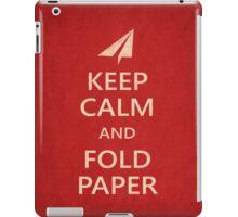 Keep Calm Paper Airplane 21a iPad Case/Skin