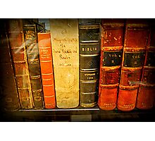 Jefferson's  Bookshelf Photographic Print