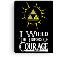 I wield (Courage) Canvas Print