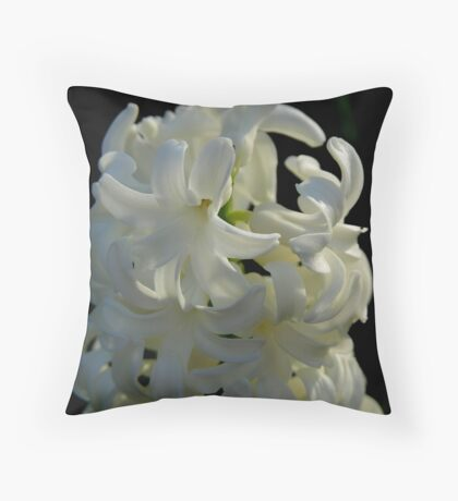 dressed in white Throw Pillow