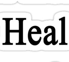 Real Heroes Heal Hamsters  Sticker
