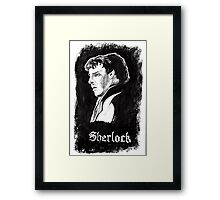 Sherlock in Charcoal Framed Print