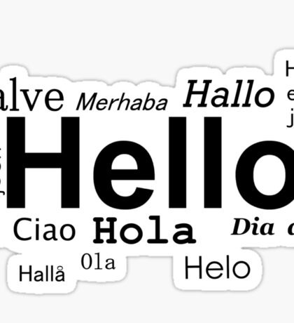 Hello in many languages  Sticker