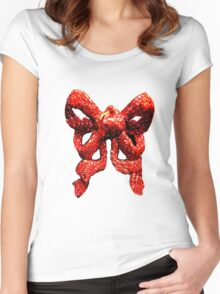 Red Ribbon T-shirt Women's Fitted Scoop T-Shirt