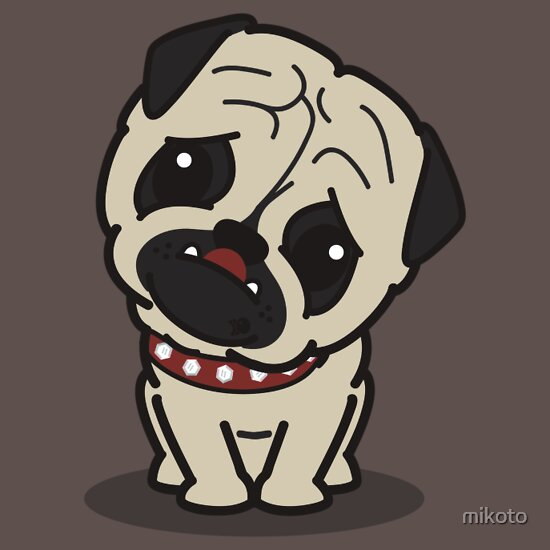 Cartoon Pug T-Shirts & Hoodies