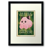 Pokedoll ad Framed Print