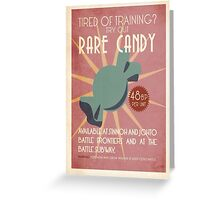 Rare Candy Ad Greeting Card