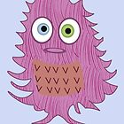Cute Pink Monster by Jessica Slater
