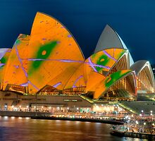 Luminous Opera House, Cahill Expressway Perspective by Erik Schlogl