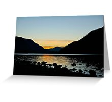 Gorge Sunset Reflection Greeting Card